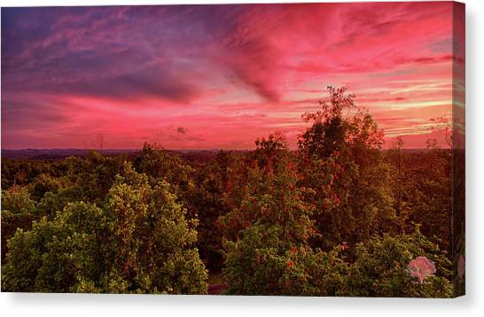 Ohio Valley Canvas Print - Strawberry Sunset by Flying Dreams