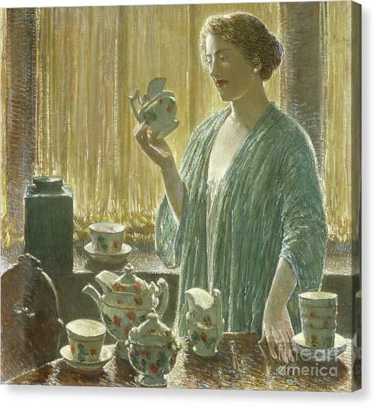 Tea Set Canvas Print - Strawberry Tea Set, 1912 by Childe Hassam