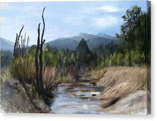 Canvas Print featuring the painting Stream by Ivana Westin