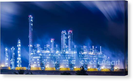 Stream Power Plant Canvas Print