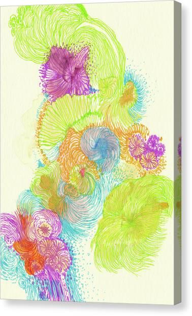 Stream - #ss18dw005 Canvas Print by Satomi Sugimoto