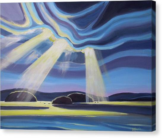 Streaming Light  Canvas Print