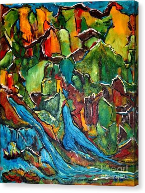 Streams In The Wilderness Canvas Print by Chaline Ouellet