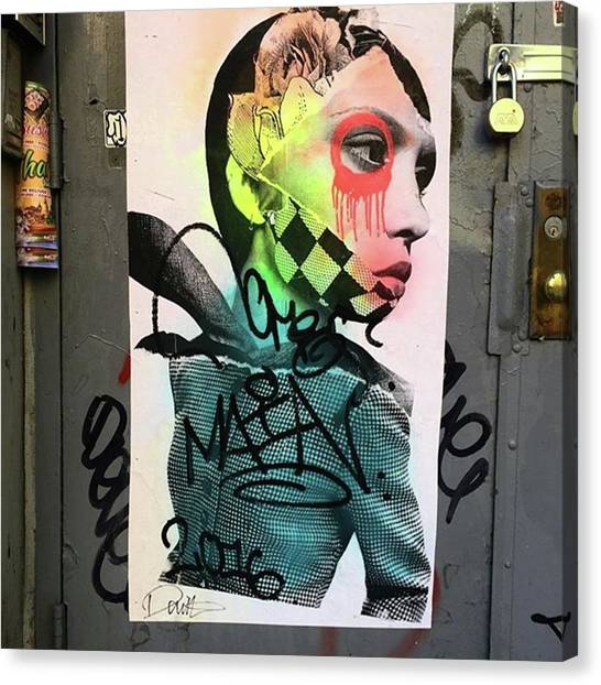 Street Art On West Broadway. #tribeca Canvas Print by Gina Callaghan