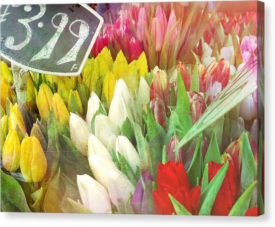 Street Bouquets Canvas Print by JAMART Photography