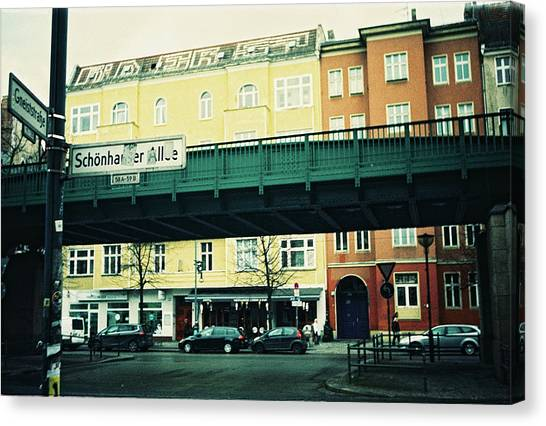 Street Cross With Elevated Railway Canvas Print