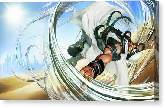 Street Fighter Canvas Print - Street Fighter V Rashid by Mery Moon