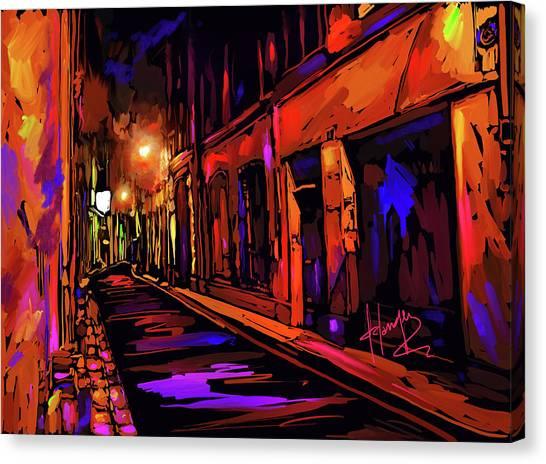 Street In Avignon, France Canvas Print