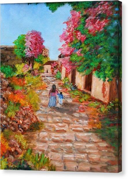 Street In Monemvasia Canvas Print