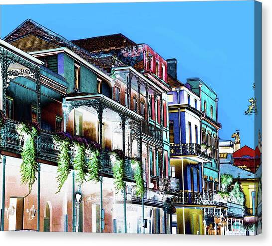 Street In New Orleans Canvas Print