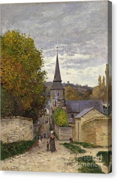 Painters Canvas Print - Street In Sainte Adresse by Claude Monet