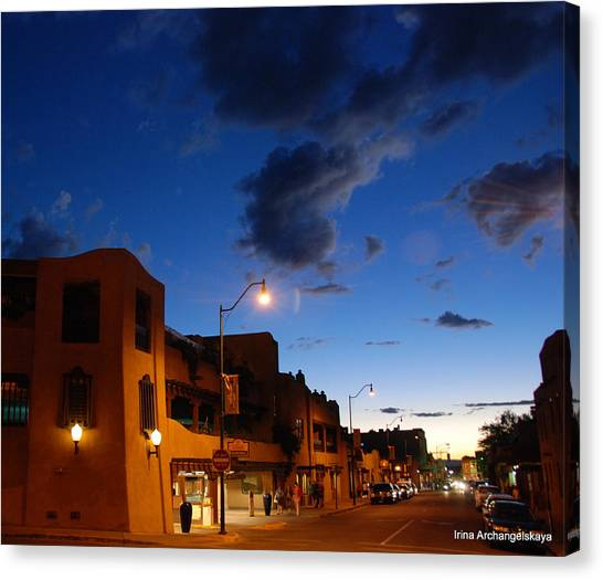 Street In Santa Fe Canvas Print