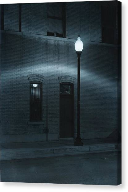 Street Lamp Arc Canvas Print by Jim Furrer