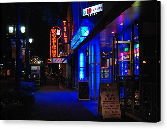 Neon Canvas Print - Street Life by Steavon Horne