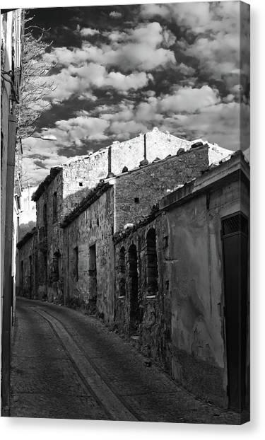 Street Little Town Canvas Print