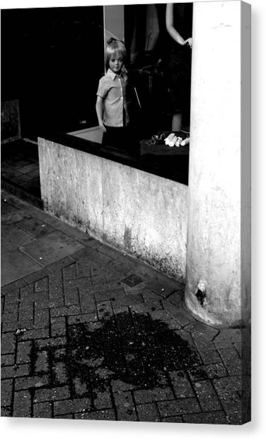 Street Lonely Canvas Print by Jez C Self