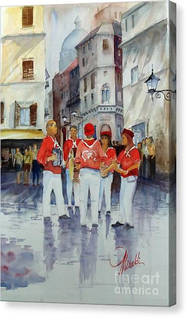 Musicisti Di Strada Italiano Canvas Print