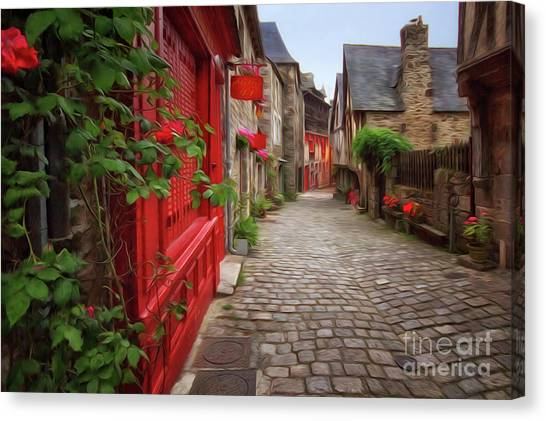 Street Of Dinan 2 Canvas Print