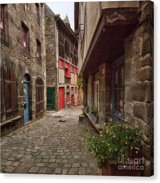 Street Of Dinan Canvas Print