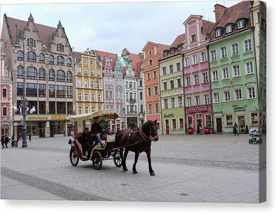 Canvas Print featuring the photograph Wroclaw Rynek by Dubi Roman