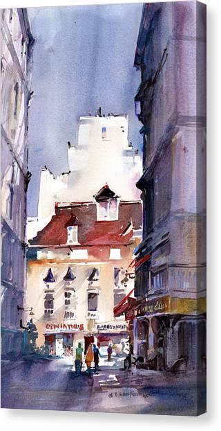 Parisian Stroll Canvas Print