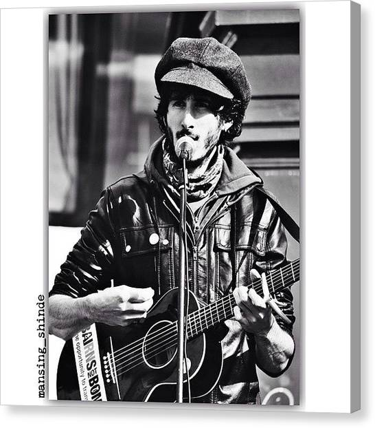 Trucks Canvas Print - Street Performance In Edinburgh, United by Indian Truck Driver