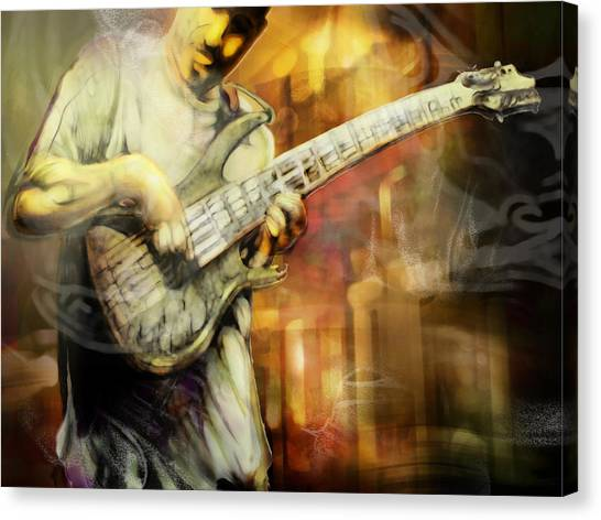 Street Performer Canvas Print by Mike Massengale