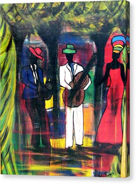 Street Performers Canvas Print by Glenda  Jones