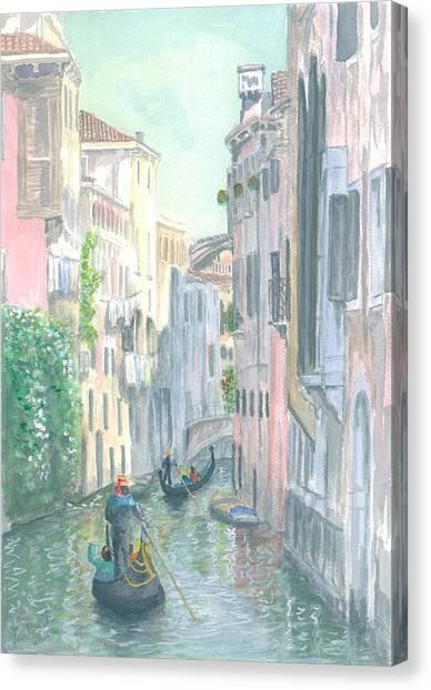 Street Scene Canvas Print by Dan Bozich
