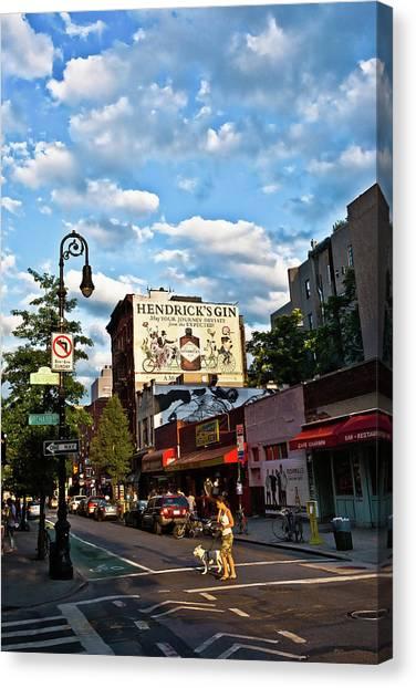 Street Scene In New York Canvas Print