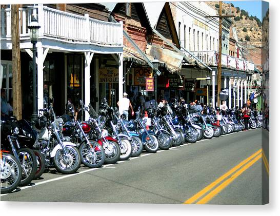 Street Vibrations In Virginia City Nevada Canvas Print