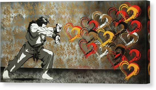 Street Fighter Canvas Print - Streetfighter Dos by Surj LA