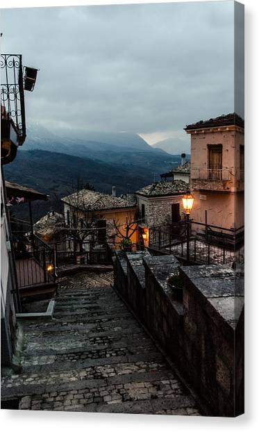 Streets Of Italy - Caramanico 3 Canvas Print