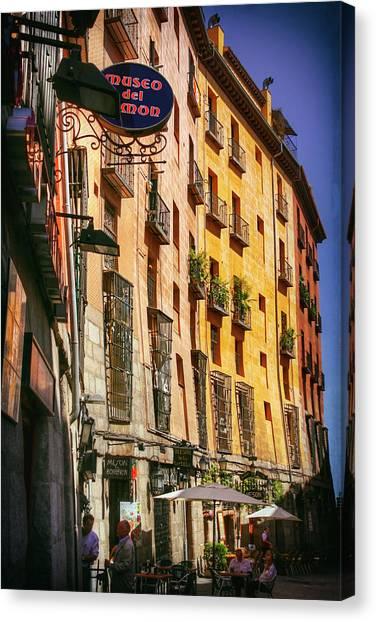 Madrid Canvas Print - Streets Of Madrid Spain by Carol Japp