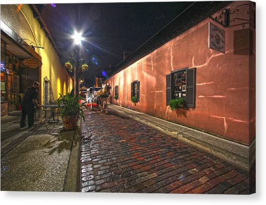 Streets Of St Augustine Canvas Print