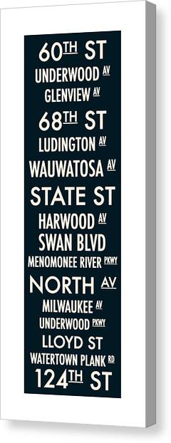 Streets Of Wauwatosa Canvas Print