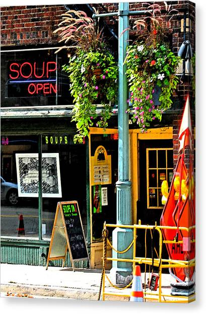 Streetscape 1 Soup Canvas Print by Gary Everson