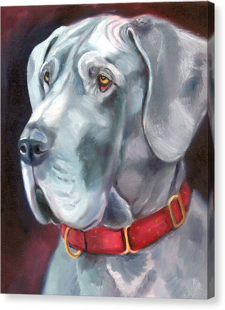 Great Danes Canvas Print - Strength And Loyalty - Great Dane by Lyn Cook