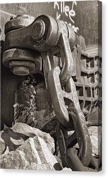 Chain Link Canvas Print - Strength I by Tom Mc Nemar