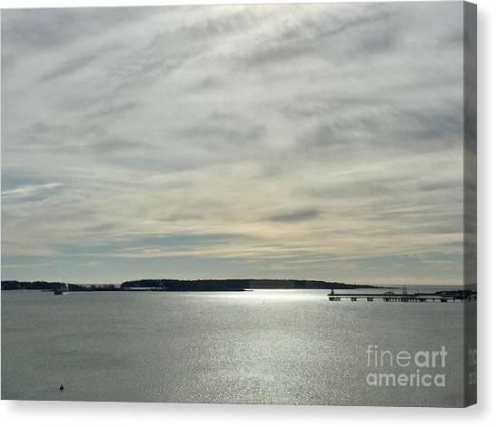 Striated Sky Over Casco Bay Canvas Print