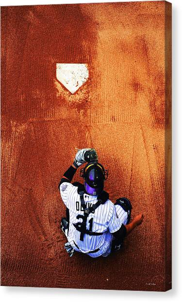 Strike Three Canvas Print by Darryl Gallegos