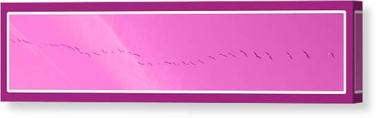 String Of Birds In Purple Canvas Print