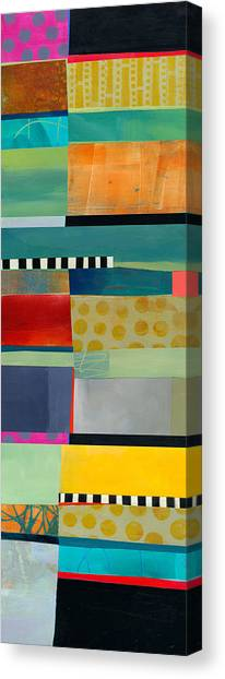 Collage Canvas Print - Stripe Assemblage 2 by Jane Davies