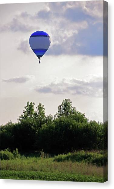 Canvas Print featuring the photograph Striped Balloon by Angela Murdock