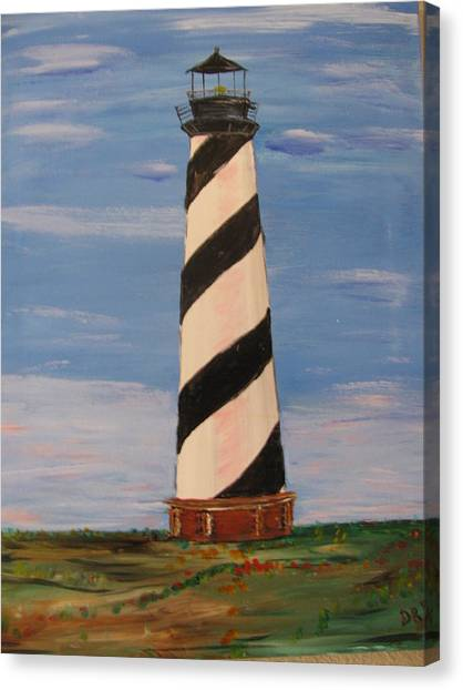 Striped Sentinal Canvas Print by Dennis Poyant