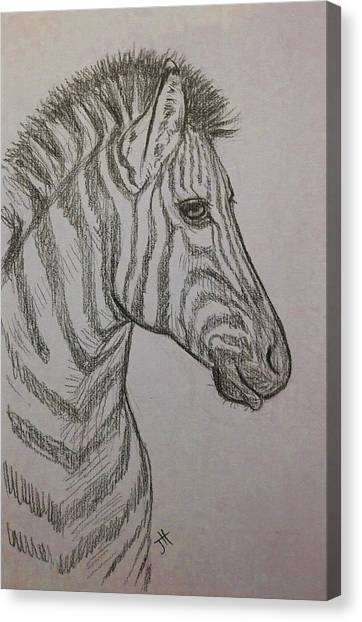 Canvas Print featuring the drawing Striped Stud by Jennifer Hotai