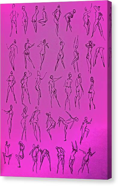 Stripper Gestures Canvas Print