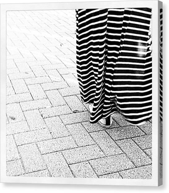 Saddles Canvas Print - Stripy Skirt by Heather Classen
