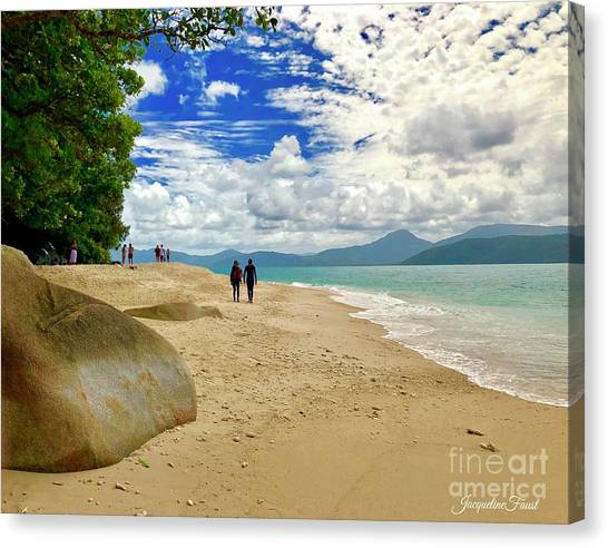 Stroll Down Under Canvas Print