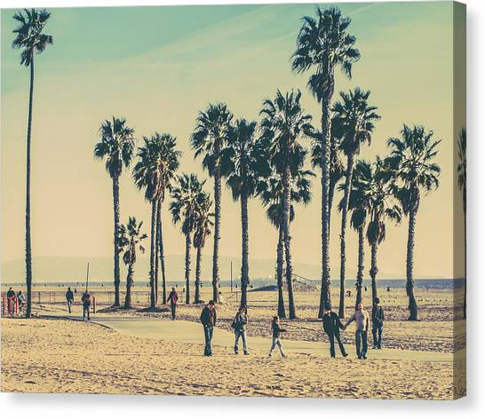 Santa Monica Canvas Print - Stroll Down Venice Beach by Az Jackson